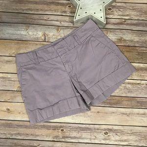Tommy Hilfiger Lilac Cuffed Shorts Sz 4